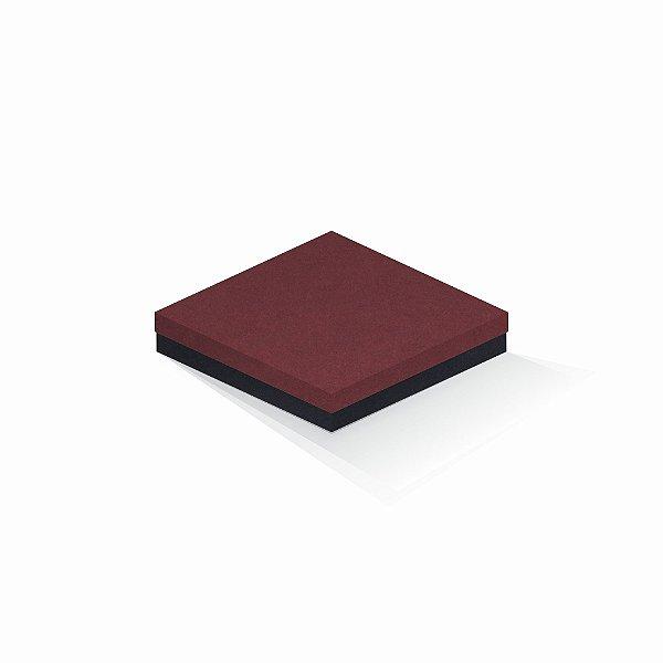 Caixa de presente | Quadrada F Card Scuro Vermelho-Preto 18,5x18,5x4,0