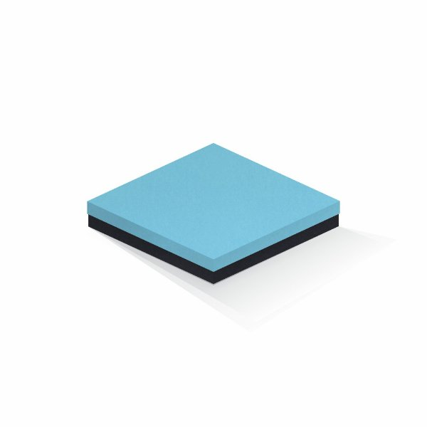 Caixa de presente   Quadrada F Card Azul-Preto 20,5x20,5x4,0
