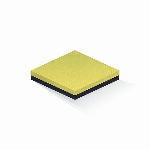 Caixa de presente   Quadrada F Card Canário-Preto 20,5x20,5x4,0