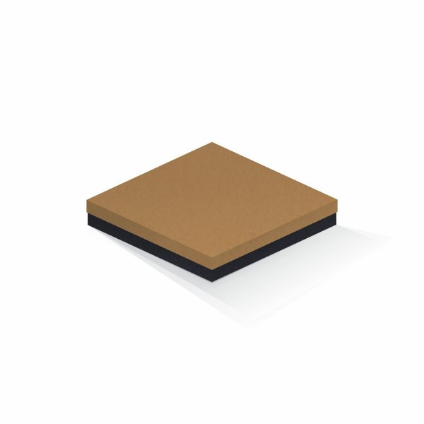 Caixa de presente | Quadrada F Card Ocre-Preto 20,5x20,5x4,0