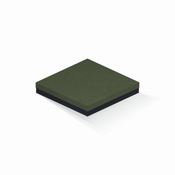 Caixa de presente | Quadrada F Card Scuro Verde-Preto 20,5x20,5x4,0