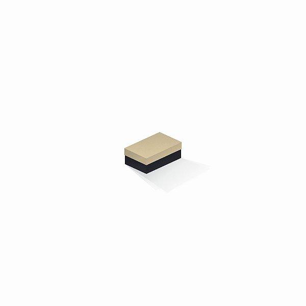 Caixa de presente | Retângulo F Card Areia-Preto 5,0x8,0x3,5