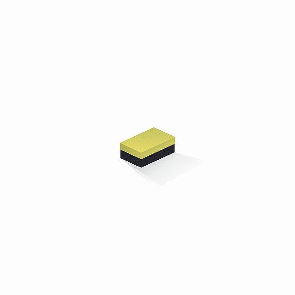 Caixa de presente | Retângulo F Card Canário-Preto 5,0x8,0x3,5