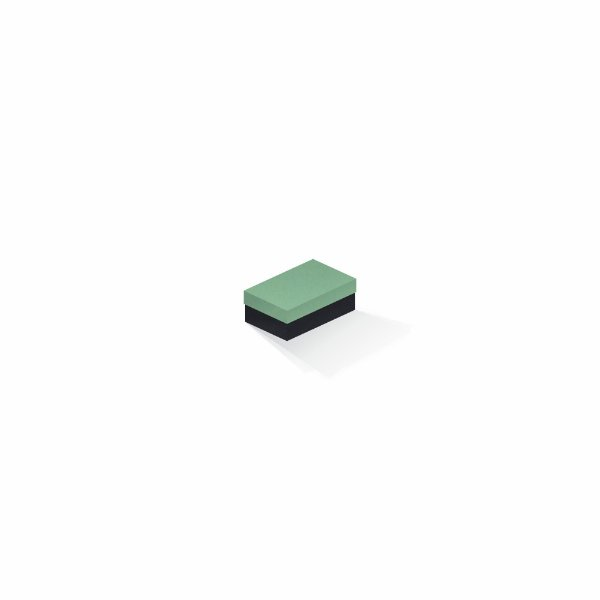 Caixa de presente | Retângulo F Card Verde-Preto 5,0x8,0x3,5
