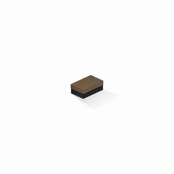 Caixa de presente | Retângulo F Card Scuro Marrom-Preto 5,0x8,0x3,5