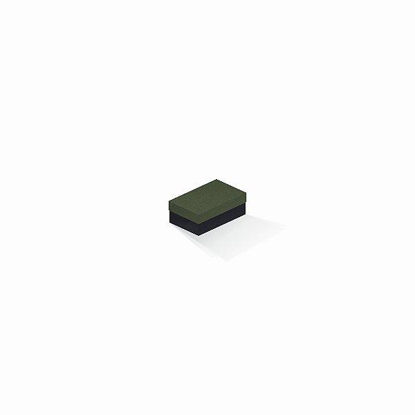 Caixa de presente | Retângulo F Card Scuro Verde-Preto 5,0x8,0x3,5