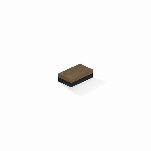 Caixa de presente | Retângulo F Card Scuro Marrom-Preto 6,0x10,0x3,5