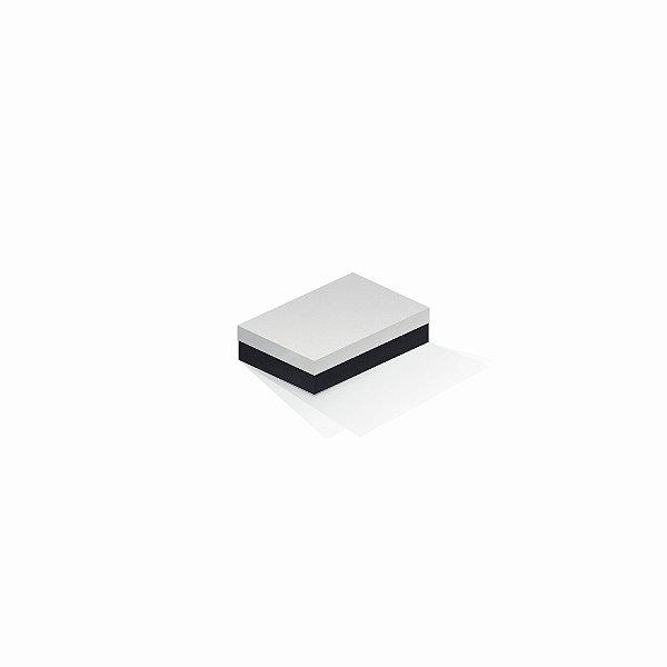 Caixa de presente | Retângulo F Card Branco-Preto 8,0x12,0x3,5