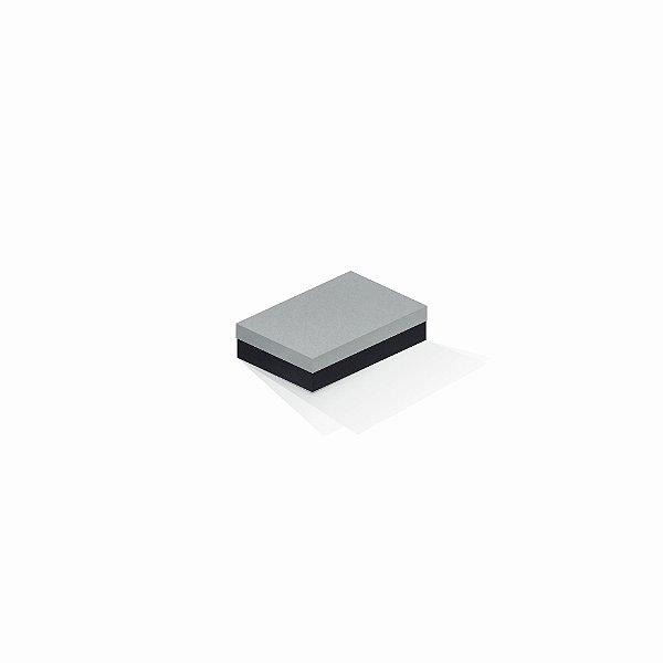 Caixa de presente | Retângulo F Card Cinza-Preto 8,0x12,0x3,5