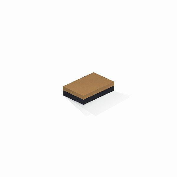 Caixa de presente | Retângulo F Card Ocre-Preto 8,0x12,0x3,5