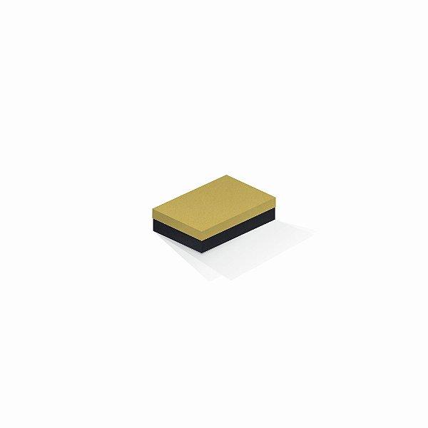 Caixa de presente | Retângulo F Card Ouro-Preto 8,0x12,0x3,5