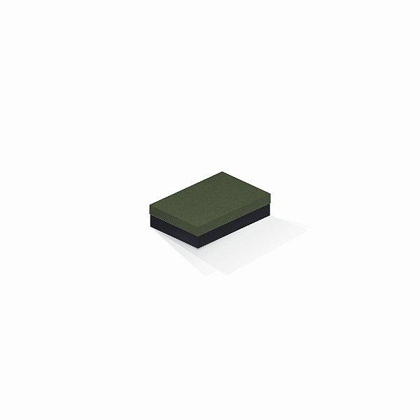 Caixa de presente | Retângulo F Card Scuro Verde-Preto 8,0x12,0x3,5