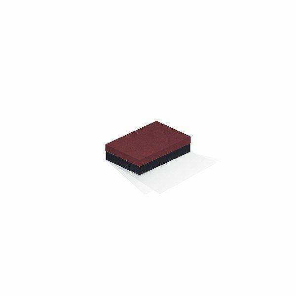 Caixa de presente | Retângulo F Card Scuro Vermelho-Preto 8,0x12,0x3,5