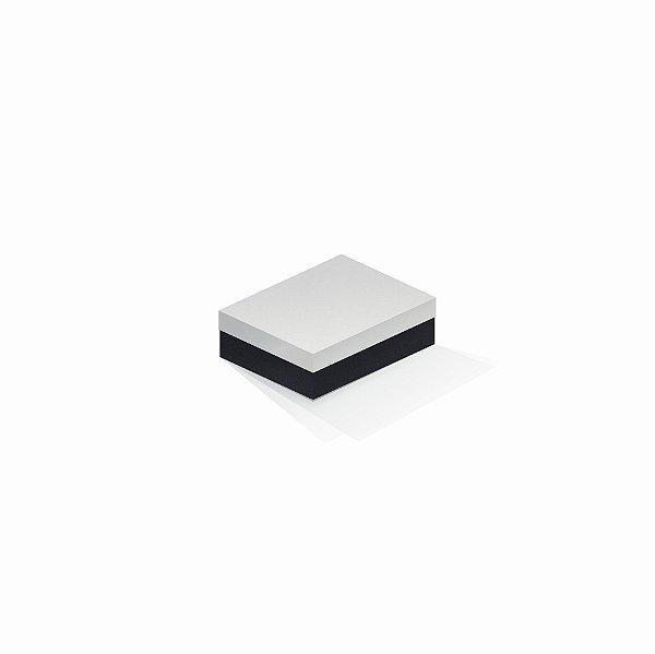 Caixa de presente | Retângulo F Card Branco-Preto 10,0x13,0x3,5