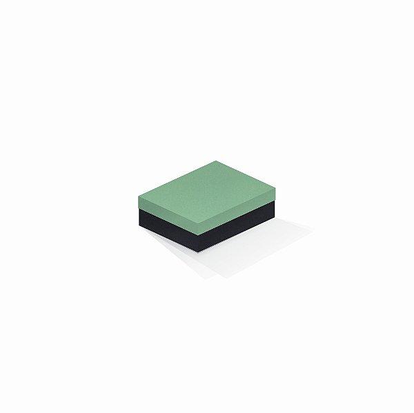 Caixa de presente | Retângulo F Card Verde-Preto 10,0x13,0x3,5