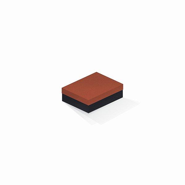 Caixa de presente | Retângulo F Card Scuro Laranja-Preto 10,0x13,0x3,5