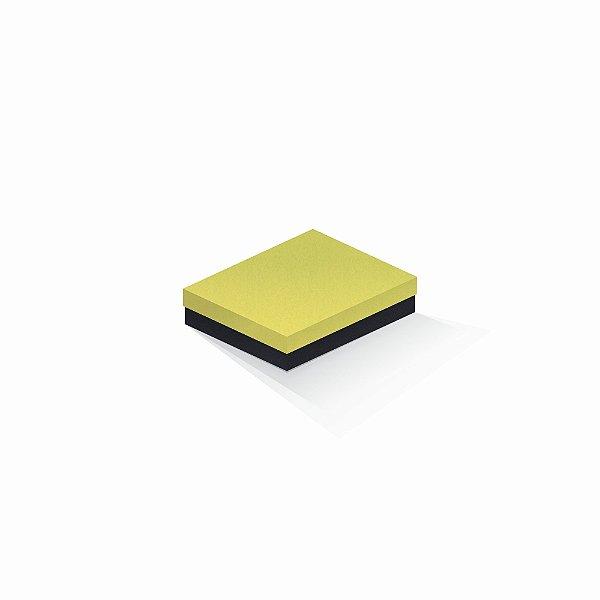 Caixa de presente | Retângulo F Card Canário-Preto 12,0x15,0x4,0