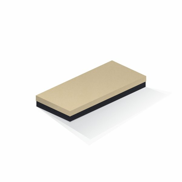 Caixa de presente   Retângulo F Card Areia-Preto 13,0x29,0x4,0