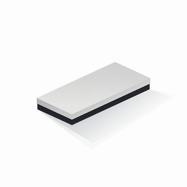 Caixa de presente | Retângulo F Card Branco-Preto 13,0x29,0x4,0
