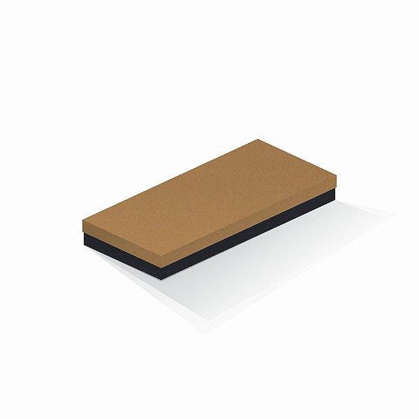Caixa de presente | Retângulo F Card Ocre-Preto 13,0x29,0x4,0