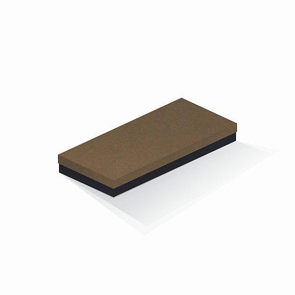 Caixa de presente | Retângulo F Card Scuro Marrom-Preto 13,0x29,0x4,0