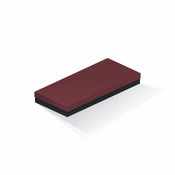 Caixa de presente | Retângulo F Card Scuro Vermelho-Preto 13,0x29,0x4,0