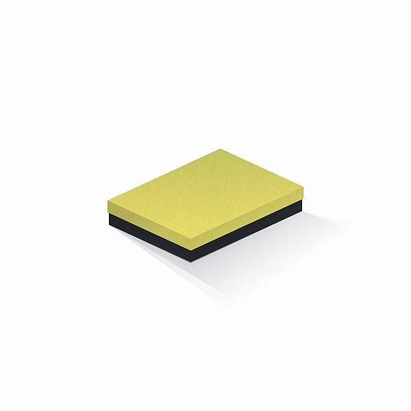 Caixa de presente | Retângulo F Card Canário-Preto 14,0x19,0x4,0