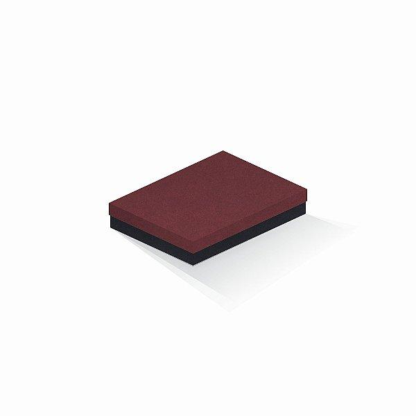 Caixa de presente | Retângulo F Card Scuro Vermelho-Preto 14,0x19,0x4,0
