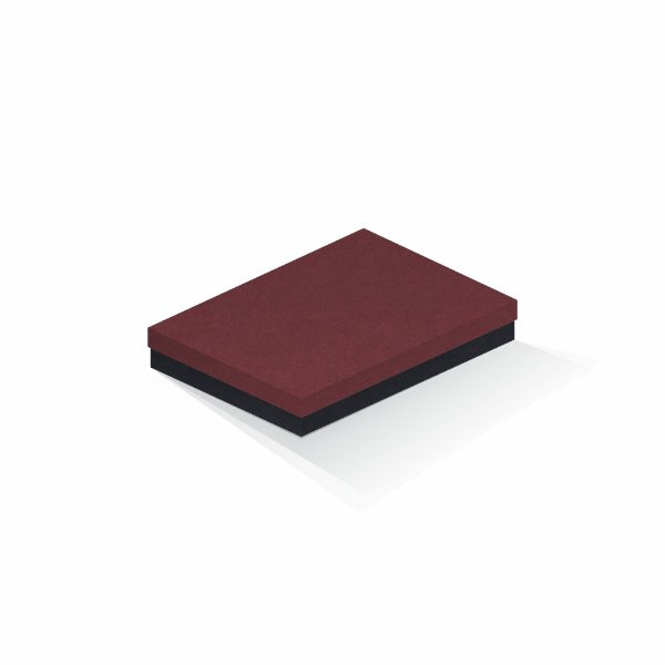 Caixa de presente | Retângulo F Card Scuro Vermelho-Preto 16,0x22,5x4,0