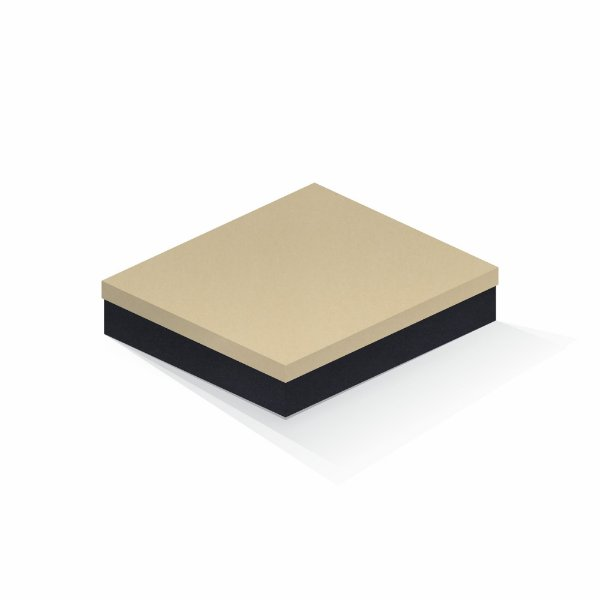 Caixa de presente | Retângulo F Card Areia-Preto 21,5x27,5x5,0