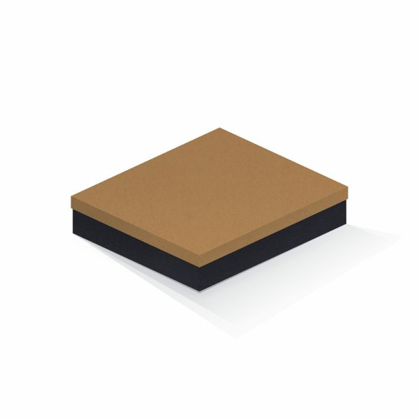 Caixa de presente | Retângulo F Card Ocre-Preto 21,7x27,7x5,0