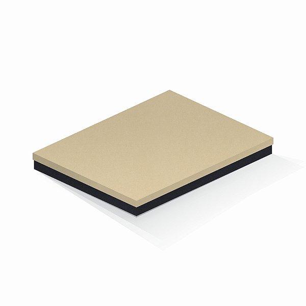 Caixa de presente | Retângulo F Card Areia-Preto 23,5x31,5x3,5