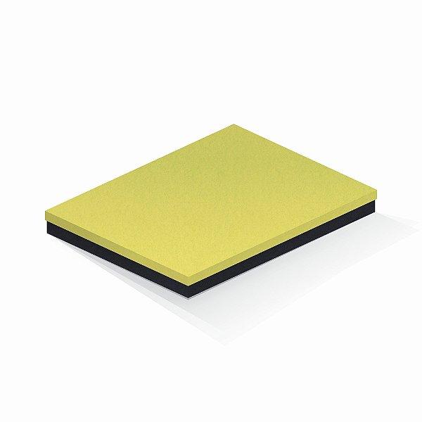 Caixa de presente | Retângulo F Card Canário-Preto 23,5x31,5x3,5