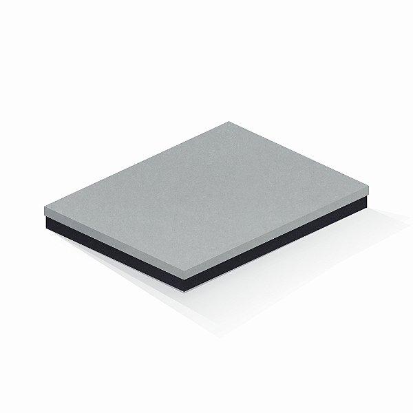 Caixa de presente | Retângulo F Card Cinza-Preto 23,5x31,0x3,5