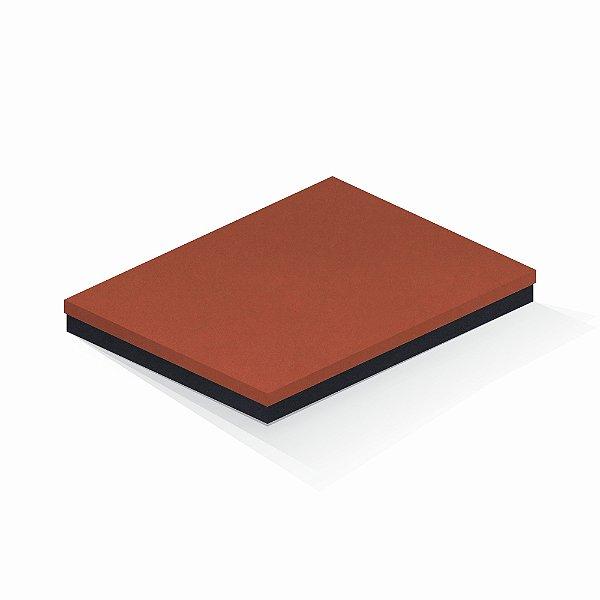 Caixa de presente | Retângulo F Card Scuro Laranja-Preto 23,5x31,0x3,5