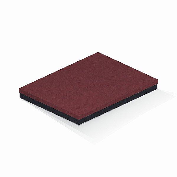 Caixa de presente | Retângulo F Card Scuro Vermelho-Preto 23,5x31,0x3,5