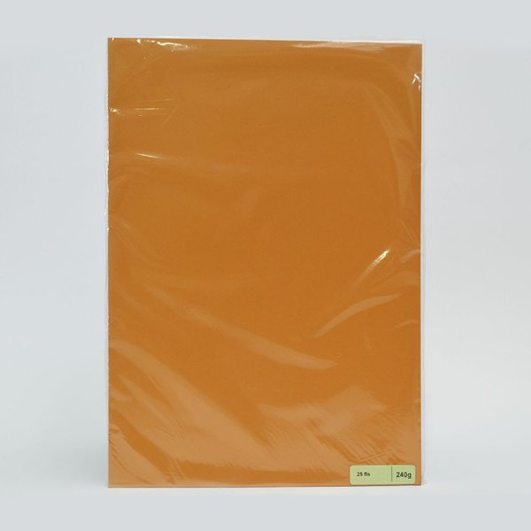 Lote A4-009 - F Card Ocre - 240g - 25fls