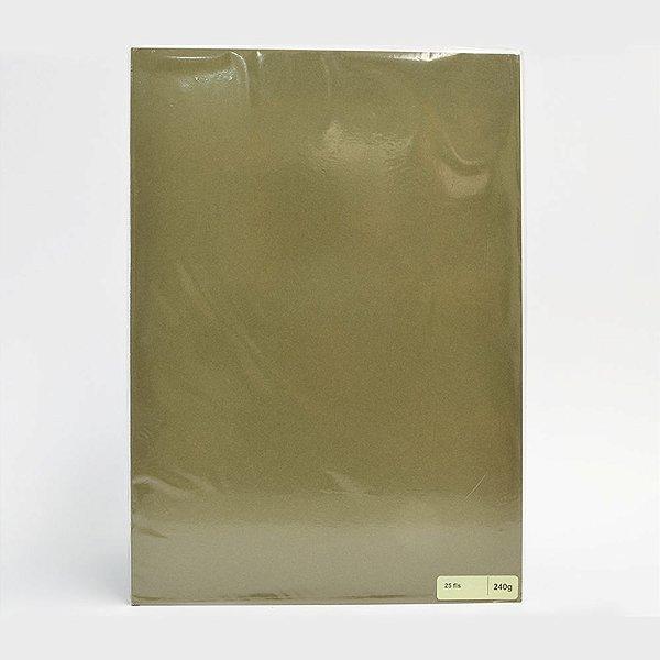 Lote A4-018 - F.C.S. Verde - 240g - 25fls