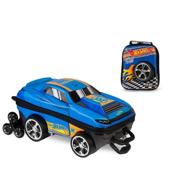 Kit Mochila de Rodinha + Lancheira Hot Wheels D-Muscle - Maxtoy
