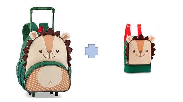 Kit Mochila De Carrinho Infantil Clio Pets Porco-espinho + Lancheira