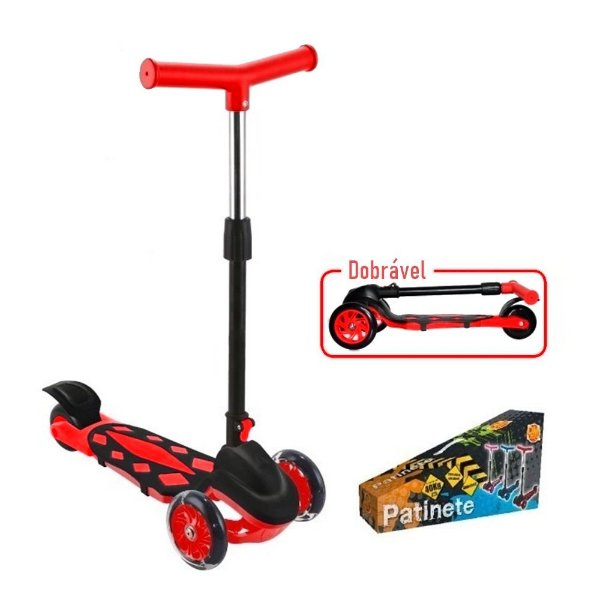 Patinete DM Toys Radical Power Vermelho