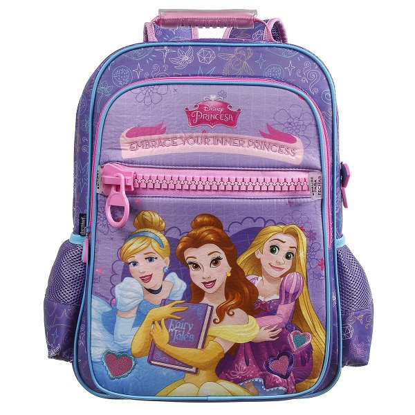 Mochila Escolar Dermiwil Princesas Disney Zíper 37510