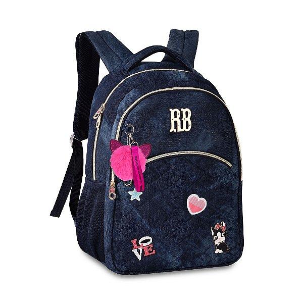 Mochila Escolar Rebecca Bonbon P/ Notebook RB2054 Jeans Escura