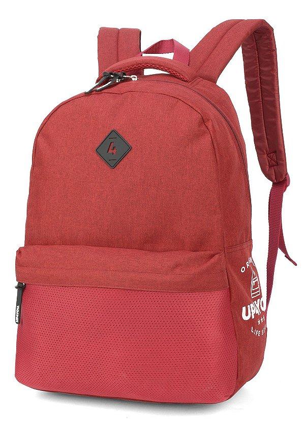 Mochila Escolar UP4YOU Bolso Telado MS45772UP Vermelho