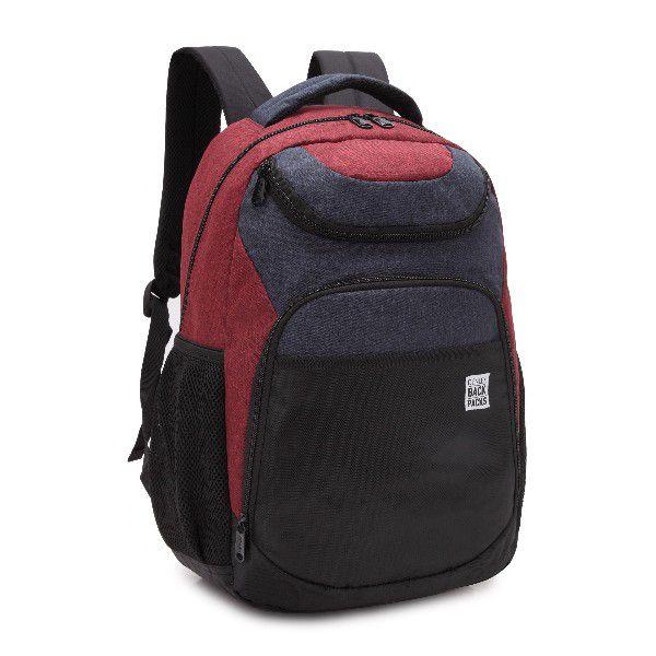 Mochila Escolar/Universitária Denlex DL0434 Azul e Vermelho