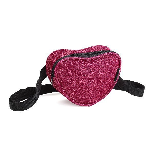 Pochete Denlex Linha Just Glitter formato Coração PH0731 Rosa