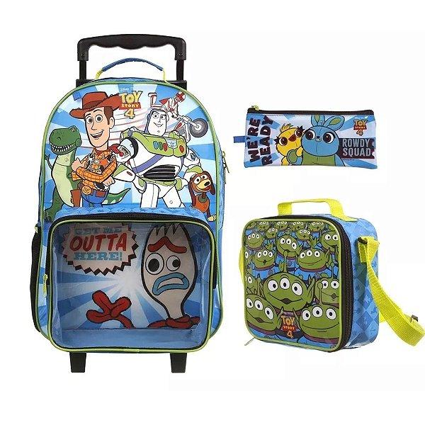 Kit Mochila Escolar Infantil Toy Store 4 + Lancheira + Estojo - 37552
