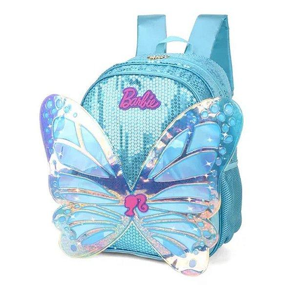 Mochila Escolar Infantil UP4YOU Barbie Com Asas IS34451BB - Azul