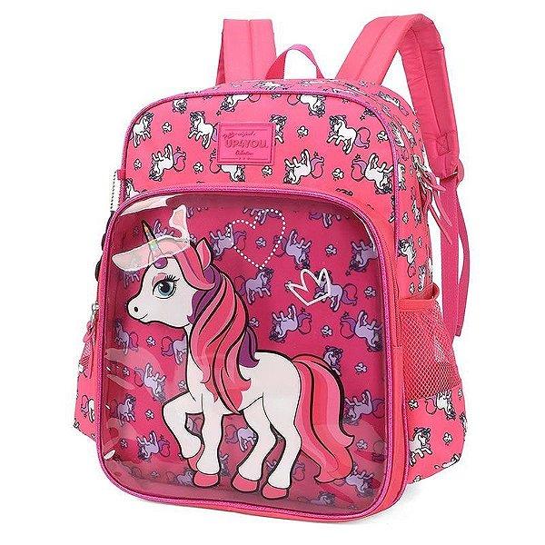 Mochila Escolar Up4you Petit Unicórnio Pink Is34221up