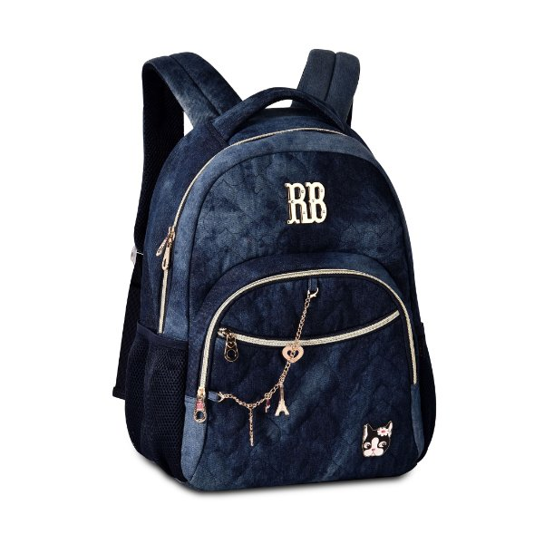 Mochila Escolar Rebecca Bonbon P Notebook RB2052 Jeans Escura
